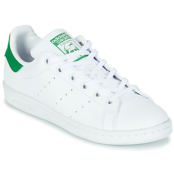 Sko Børn Lave sneakers adidas Originals STAN SMITH J SUSTAINABLE Hvid / Grøn