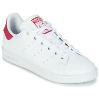 Sko Pige Lave sneakers adidas Originals STAN SMITH J SUSTAINABLE Hvid / Pink