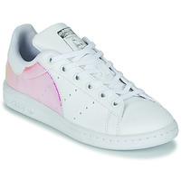 Sko Pige Lave sneakers adidas Originals STAN SMITH J SUSTAINABLE Hvid / Iriserende