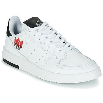 Sko Dame Lave sneakers adidas Originals SUPERCOURT Hvid / Sort