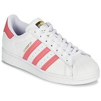 Sko Dame Lave sneakers adidas Originals SUPERSTAR W Hvid / Pink