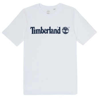 textil Dreng T-shirts m. korte ærmer Timberland FONTANA Hvid