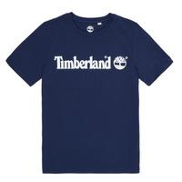 textil Dreng T-shirts m. korte ærmer Timberland VUILL Marineblå