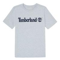 textil Dreng T-shirts m. korte ærmer Timberland NINNO Grå