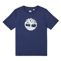 textil Dreng T-shirts m. korte ærmer Timberland TRISTA Blå