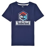 textil Dreng T-shirts m. korte ærmer Timberland GRISS Marineblå