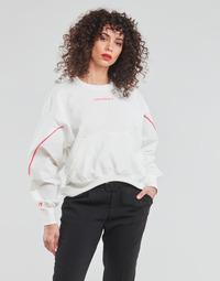 textil Dame Sweatshirts Converse BLOCKED ALTERRAIN CREW Hvid