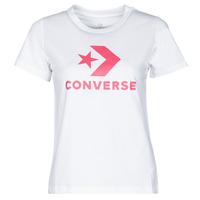 textil Dame T-shirts m. korte ærmer Converse STAR CHEVRON CENTER FRONT TEE Hvid