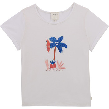 textil Pige T-shirts m. korte ærmer Carrément Beau Y15383-10B Hvid