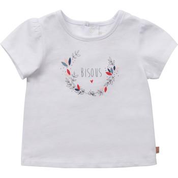 textil Pige T-shirts m. korte ærmer Carrément Beau Y95270-10B Hvid