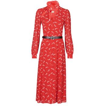 textil Dame Lange kjoler MICHAEL Michael Kors SIGNTRE LOGO SHRT DRS Rød