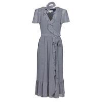 textil Dame Lange kjoler MICHAEL Michael Kors MINI BICOLR 60S FLRL DRS Blå