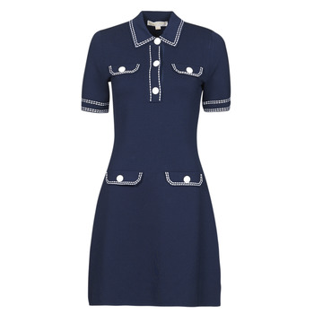 textil Dame Korte kjoler MICHAEL Michael Kors CONTRAST STITCH BUTTON DRESS Marineblå