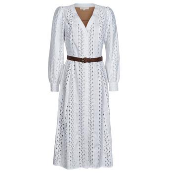 textil Dame Lange kjoler MICHAEL Michael Kors ROPE STRIPES HEMP DS Hvid