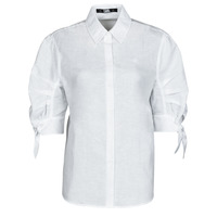 textil Dame Skjorter / Skjortebluser Karl Lagerfeld LINENSHIRTW/BOWS Hvid