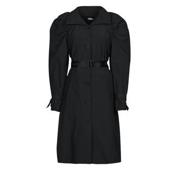 textil Dame Trenchcoats Karl Lagerfeld DRAPEDTRENCHCOAT Sort