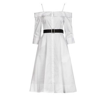 textil Dame Lange kjoler Karl Lagerfeld COLDSHOULDERSHIRTDRESS Hvid