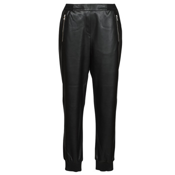 textil Dame Lærredsbukser Karl Lagerfeld FAUXLEATHERJOGGERS Sort