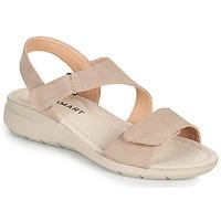 Sko Dame Sandaler Damart 67808 Beige / Pink