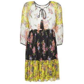 textil Dame Korte kjoler Derhy SARDAIGNE Sort / Hvid / Gul