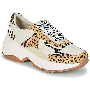 Sko Dame Lave sneakers Gioseppo FORMIA Hvid / Leopard