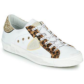 Sko Dame Lave sneakers Philippe Model PARIS Hvid / Leopard