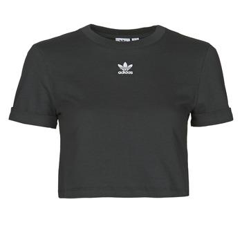 textil Dame T-shirts m. korte ærmer adidas Originals CROP TOP Sort