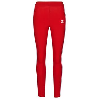 textil Dame Leggings adidas Originals 3 STR TIGHT Rød