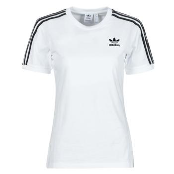 textil Dame T-shirts m. korte ærmer adidas Originals 3 STRIPES TEE Hvid