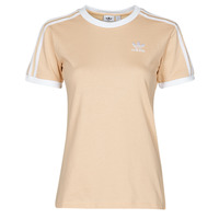 textil Dame T-shirts m. korte ærmer adidas Originals 3 STRIPES TEE Orange
