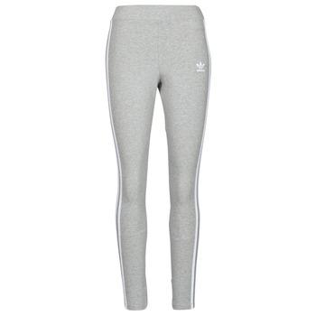 textil Dame Leggings adidas Originals 3 STRIPES TIGHT Grå