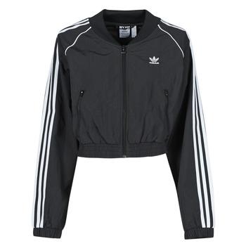 textil Dame Sportsjakker adidas Originals SHORT TRACKTOP Sort