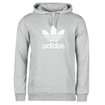 textil Herre Sweatshirts adidas Originals TREFOIL HOODIE Grå