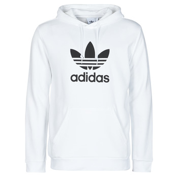 textil Herre Sweatshirts adidas Originals TREFOIL HOODIE Hvid