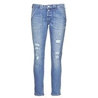textil Dame Jeans - boyfriend Le Temps des Cerises CARA Blå
