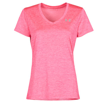 textil Dame T-shirts m. korte ærmer Under Armour TECH SSV Pink