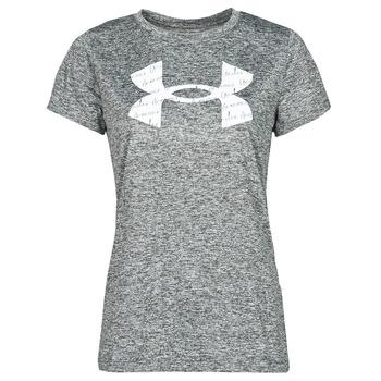 textil Dame T-shirts m. korte ærmer Under Armour TECH TWIST BL SSC Grå