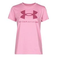 textil Dame T-shirts m. korte ærmer Under Armour LIVE SPORTSTYLE GRAPHIC SSC Pink