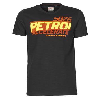 textil Herre T-shirts m. korte ærmer Petrol Industries T-SHIRT SS R-NECK F Sort