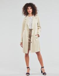 textil Dame Frakker Esprit SUEDE COAT Beige