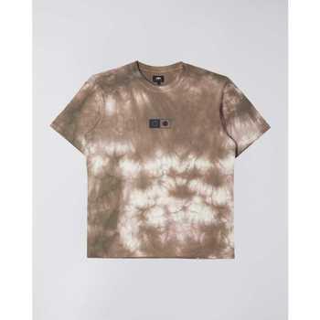 textil Herre T-shirts m. korte ærmer Edwin T-shirt  Synergy marron/blanc