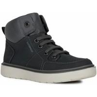 Sko Dreng Høje sneakers Geox J Riddock Boy Wpf Navy Grey Blå