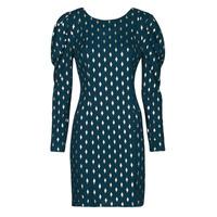 textil Dame Korte kjoler Naf Naf HERMIONE R1 Marineblå / Guld