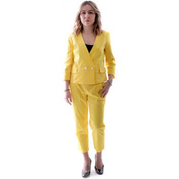 textil Dame Jakkesæt Fracomina FR20SP090 Gul