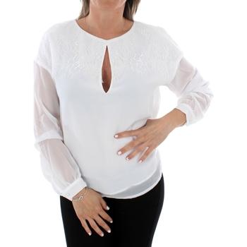 textil Dame Toppe / Bluser Guess W93H92W8SL0 TWHT Blanco