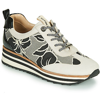 Sko Dame Lave sneakers JB Martin 4CASSIE Grå / Sort