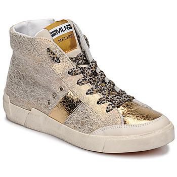 Sko Dame Høje sneakers Meline NK1384 Guld