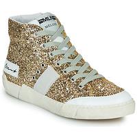 Sko Dame Høje sneakers Meline NKC1369 Guld