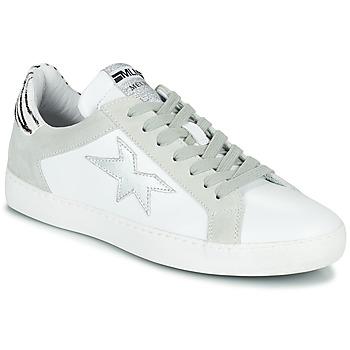 Sko Dame Lave sneakers Meline KUC256 Hvid / Sølv / Zebra