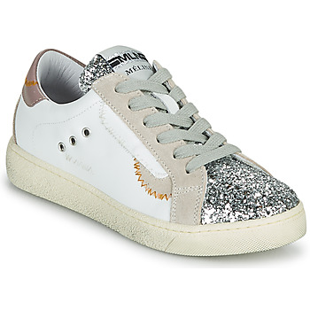 Sko Dame Lave sneakers Meline CAR139 Hvid / Glitter